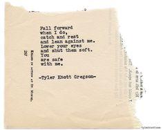 Typewriter Series #813 byTyler Knott Gregson