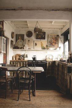 Farmhouse style antique kitchen.