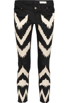Sass & bide Full Circle ikat-embroidered low-rise skinny jeans