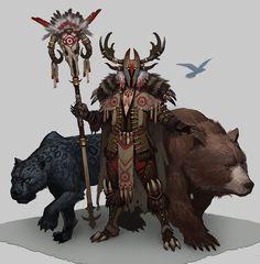 m Druid wilderness ArtStation - Druids, hyun lee Fantasy Character Design, Character Design Inspiration, Character Concept, Character Art, Concept Art, Fantasy Kunst, Fantasy Rpg, Medieval Fantasy, Dark Fantasy