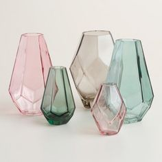 World Market Oval Faceted Mini Vases ($15, set of 3):24 Spring-Inspired Home Decor Finds Under $30 via Brit + Co