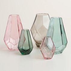 World Market Oval Faceted Mini Vases ($15, set of 3):24 Spring-Inspired Home Decor Finds Under $30 via Brit + Co