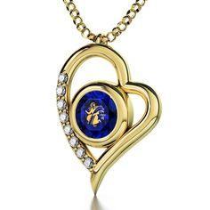 Virgo Sign, 24k Gold Plated Necklace, Swarovski