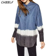 >> Click to Buy << Spring New European Loose Denim Shirt Fashion Turn-down Collar Long Sleeve Top Women Jeans Women Shirts Pop138 #Affiliate