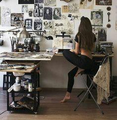31 Ideas For Art Studio Space Ideas Lighting Room Goals, Aesthetic Rooms, Artist Aesthetic, Dream Rooms, My New Room, Art Studios, Interior Design Living Room, Studio Interior, Bedroom Decor