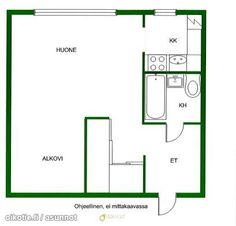 34m² Lauttasaarentie 17, 00200 Helsinki Kerrostalo yksiö vuokrattavana   Oikotie 9387627