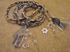 Hand fasting cords, and a way to mix two belief systems together in the cord <3