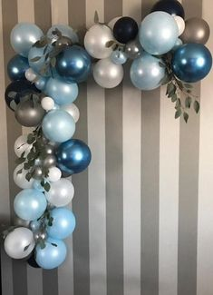 Birthday Boy balloon garland kit-First Birthday-Balloon garland-Hot air balloon- Garland-Birthda - Products - Baby Shower Blue Party Decorations, Baby Shower Decorations For Boys, Boy Baby Shower Themes, Baby Shower Balloons, Baby Boy Shower, Balloon Decorations Without Helium, Birthday Decorations, Baby Showers, First Birthday Balloons