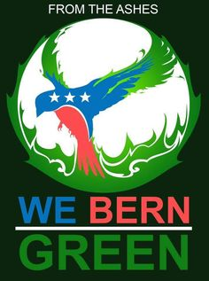 From the Ashes, We Bern Green | I don't know who made this graphic, but I absolutely love it! #JillNotHill