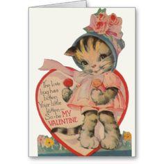 Het vintage Wenskaart van de Valentijnsdag van het