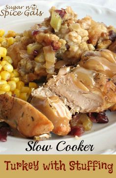 SLOW COOKER TURKEY WITH STUFFING *Crock Pot / Slow Cooker http://myrecipemagic.com/recipe/recipedetail/slow-cooker-turkey-with-stuffing  ⇨ Follow City Girl at link https://www.pinterest.com/citygirlpideas/ for great pins and recipes!  ☕