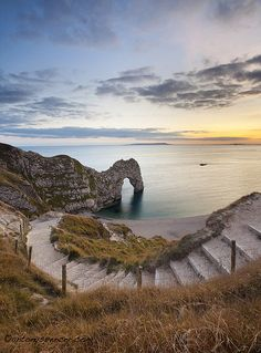 Steps to Durdle Door on the Jurassic Coast, Dorset, England (by antonyspencer). - See more at: http://visitheworld.tumblr.com/post/31990428064/steps-to-durdle-door-on-the-jurassic-coast#sthash.iTaTuW3C.dpuf