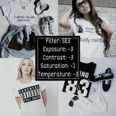 SE3 Exposure -3 Contrast -3 Saturation -2 Temperature -3