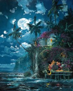 James Coleman Night Fishin' in Paradise Disney Fine Art