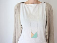I like the geometric necklace trend this season.