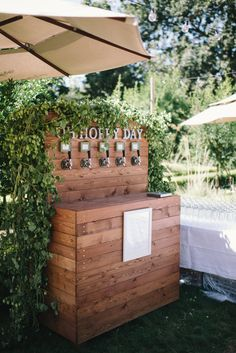 Wedding Beer Station with Hops