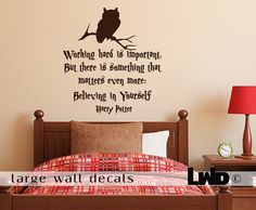 Harry Potter - Quote wall decal - wall decals - home decor - vinyl sticker