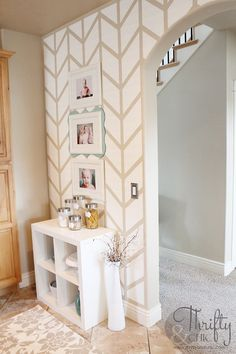 Herringbone Pattern Accent Wall