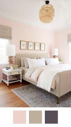 Schlafzimmer Rosa Beige