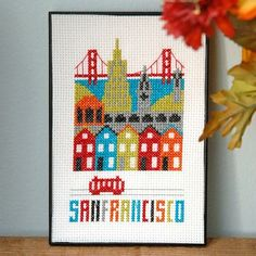 CCounted Cross Stitch patterns by Tiny Modernist are perfect for the modern stitcher. Their beautiful and unique designs are a joy to stitch. PRODUCT DETAILS: :: Design: San Francisco :: Stitch Count: