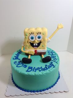 Spongebob Birthday cake, Sugarnomics Cake Studio Guam