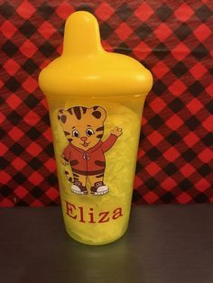 Daniel the Tiger Sippy cup by ChickenCoopGifts on Etsy
