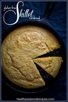 Gluten Free Skillet Cornbread recipe on Healthy Seasonal Recipes