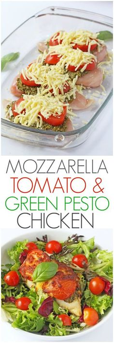 Just 3 minutes prep and 30 minutes in the oven to make this Mozzarella, Tomato & Basil Pesto Chicken | My Fussy Eater blog