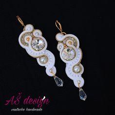 AŠ design Soutache Jewellery 2016 - bridal soutache earrings
