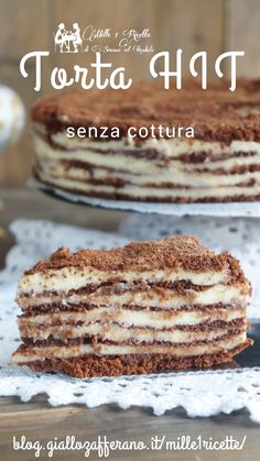 Quick cake without cooking. Very Good Cake Hit - Rezepte Bow Bakery Recipes, Dessert Recipes, Cooking Recipes, Quick Cake, Italian Cake, Cake Servings, Desserts To Make, Vegan Cake, Vegan Baking