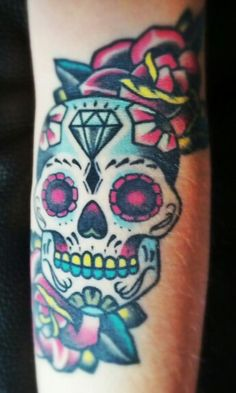 My #tattoo #Mexican #calavera #skull #old #school
