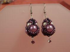 Glass Earrings – Purple Beaded drop earrings – a unique product by DarkEyedJewels on DaWanda Glass Earrings, Etsy Earrings, Pearl Earrings, Drop Earrings, Handmade Jewellery, Purple, Unique, Jewelry, Pearl Studs