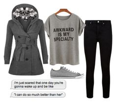 """Grey Days"" by little-miss-emo-girl ❤ liked on Polyvore featuring Paige Denim, WearAll and Converse"