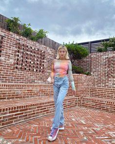 Nancy Jewel Mcdonie, Nancy Momoland, The Most Beautiful Girl, Beautiful Asian Girls, Korean Girl Fashion, Bell Bottom Jeans, Mom Jeans, Jewels, Photo And Video