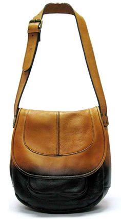 Patricia Nash Barcelona Saddle Bag in Dip Leather
