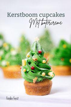 kerstboom cupcakes recept Let It Snow, Mini Cupcakes, Avocado Toast, Pudding, Baking, Breakfast, Desserts, Christmas, Bullet Journal
