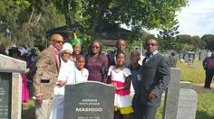 Ntate Mashigo's family...Children, wife, and some of his Grandkids #NtateMashigoMemorial2015