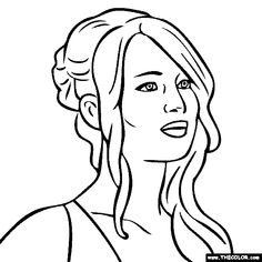 jennifer lawrence coloring page - Kids Games Coloring