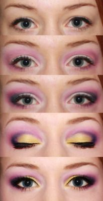 eye shadow idea- I need some yellow!