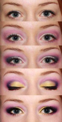 eye shadow idea- I need some yellow!