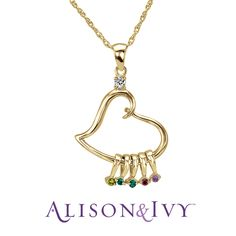 Allison & Ivy- Personalized Heart Pendant These would be great to give to my children with their children's birthstones