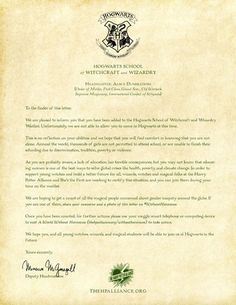 8 delightful Hogwarts Acceptance Letter images   Harry potter