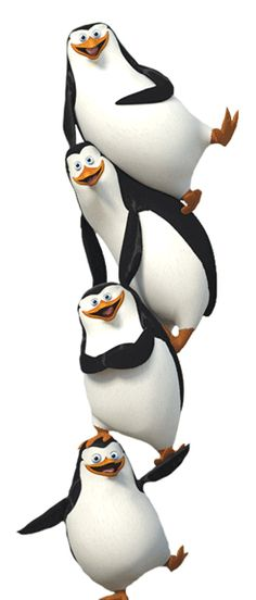 Penguins Of Madagascar.  Skipper, Rico, Kowalski, Private