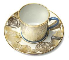 Mer Turquoise Coffee Cup & Saucer by Alberto Pinto