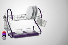 2-Tiered Dish Drainer - 4 Colours!