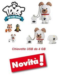 Novità - #TRIBE #Chiavette #USB da 4 GB #pendrive #cancelleria #scuola #ufficio