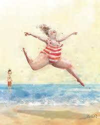 Når badedrakta fra i fjor er litt for trang, men sola skinner og du har ferie! Lisa, Happy B Day, Summer Body, Illustration Artists, Old Postcards, Illustrators, Prints, Instagram, Paintings