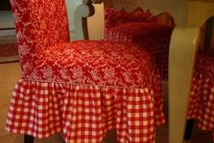 decorating with red   just got these slipcovers at Pier1- now I have to find the chair