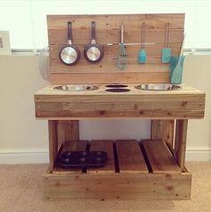 palettenmöbel selber bauen   Die oben abgebildete coole Küche aus ...