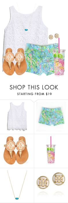 """""""Who else wants a Lilly Pulitzer Swell bottle because i do"""" by flroasburn on Polyvore featuring Lilly Pulitzer, Kendra Scott and Tory Burch"""